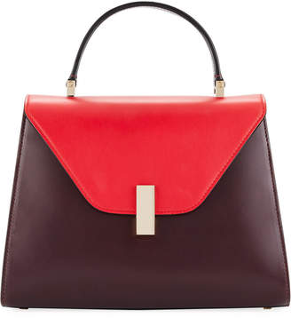 Valextra Iside Medium Colorblock Calf Leather Top-Handle Bag