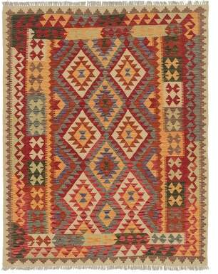 "Isabelline One-of-a-Kind Lorain Hand-Knotted 5'3"" x 6'8"" Wool Red/Orange Area Rug Isabelline"