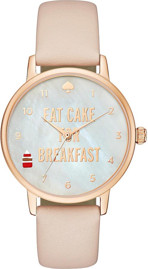 Kate SpadeKate Spade 1YRU0892 Metro rose gold-plated leather watch