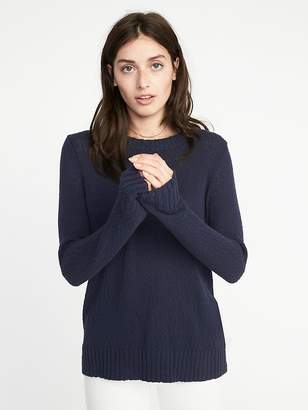 Old Navy Slub-Knit Crew-Neck Sweater for Women