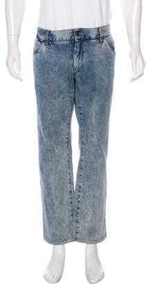Dolce & Gabbana Stonewashed Straight-Leg Denim
