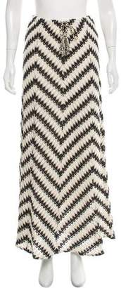 Calypso Patterned Knit Maxi Skirt