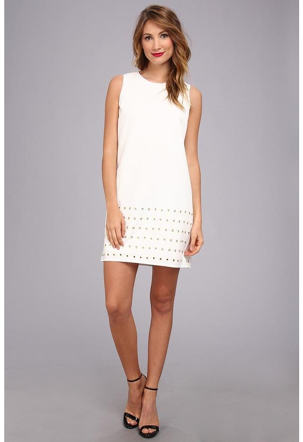 Vince Camuto S/L Gromet Embellished Dress