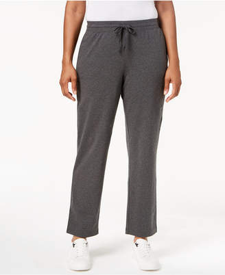 Karen Scott Drawstring Straight-Leg Pants