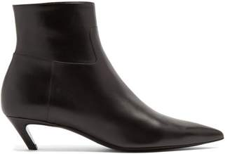 Balenciaga Slash Leather Bootie - Womens - Black