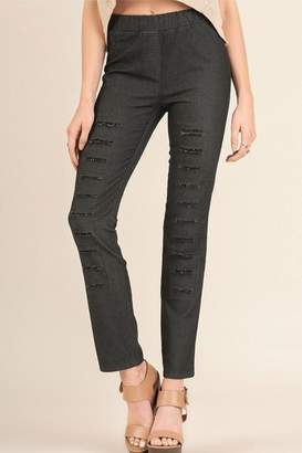 Umgee USA Ripped Denim Jeggings
