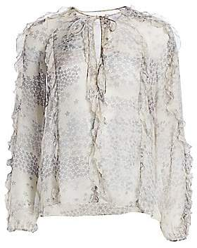 RED Valentino Women's Cascading Star Silk Blouse