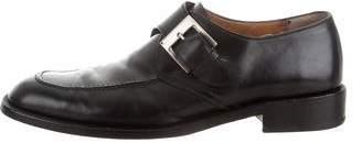 Salvatore Ferragamo Leather Monk Strap Shoes