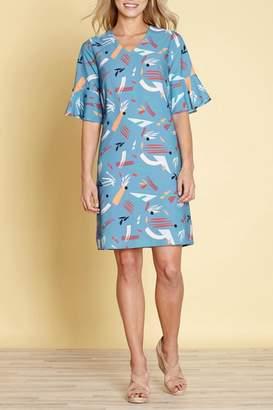 Yumi Abstract Strokes Dress