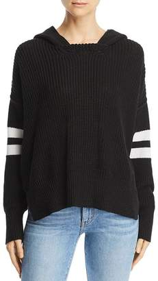 Aqua Striped-Sleeve Hooded Sweater - 100% Exclusive