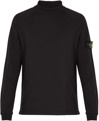 Stone Island High-neck cotton sweatshirt