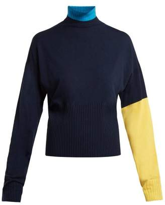 Sportmax Plava Sweater - Womens - Navy Multi