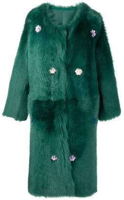 Liska Montena long shearling coat