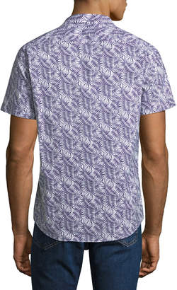 Slate & Stone Palm-Leaf Short-Sleeve Sport Shirt