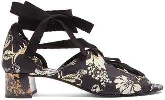 Erdem Riyeka Vanguard Midnight-print block-heel shoes