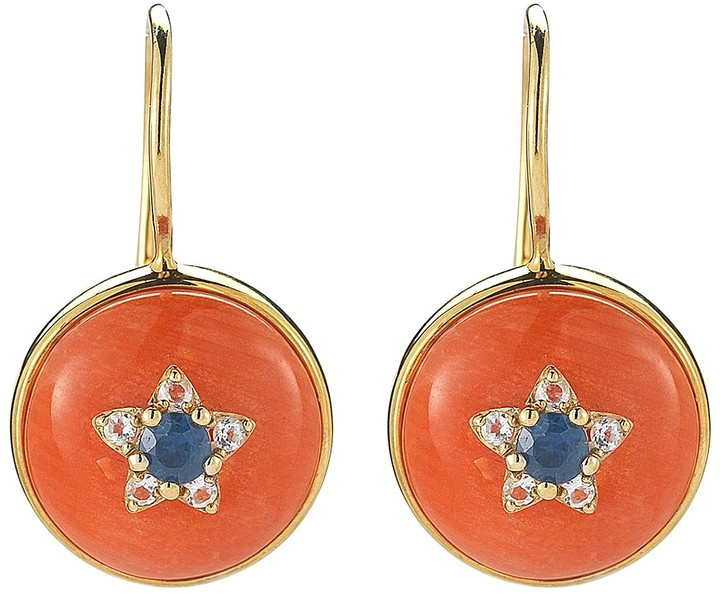 Elizabeth And James Elizabeth and James Gold Plated Sterling Silver Victorian Star Round Drop Earrings