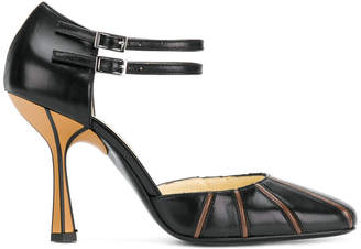 Marni D'orsay strapped pumps