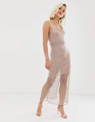 Raga Samara chainmail knit maxi dress