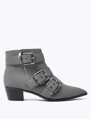 Marks and Spencer Multi Buckle Ankle Boots