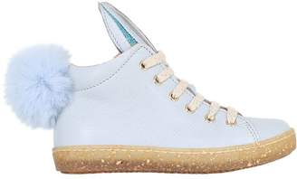 Ocra Bunny Details Leather High Top Sneakers