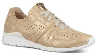 UGG Women's Tye Stardust Leather Lace Up Sneakers