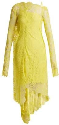 Preen By Thornton Bregazzi - Masie Lace Asymmetric Hem Dress - Womens - Yellow