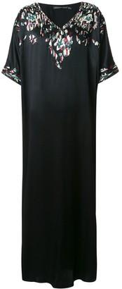 Josie Natori Couture Suzani kaftan dress
