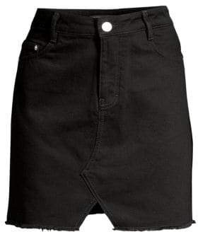 Maje Women's Short Denim Mini Skirt - Black - Size 38 (6)