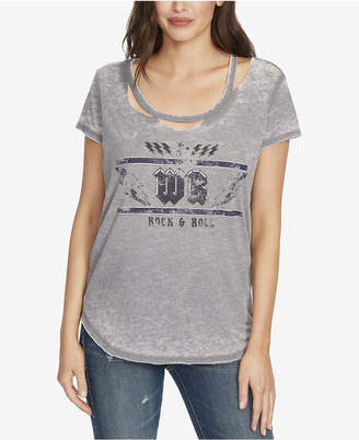 William Rast Destructed Graphic T-Shirt