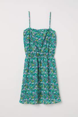 H&M Sleeveless Chiffon Dress - Green