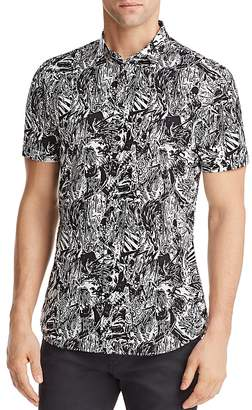 HUGO Empson Patterned Regular Fit Button-Down Shirt