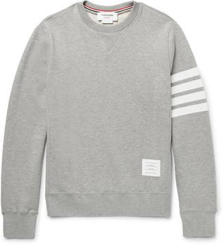 Striped Loopback Cotton-Jersey Sweatshirt $510 thestylecure.com