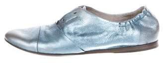Marsèll Metallic Leather Oxfords