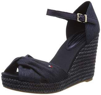 2736baa6e Tommy Hilfiger Women s Iconic Elena Metallic Canvas Platform Sandals