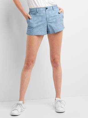 Gap Chambray paisley shorts