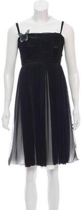Dolce & Gabbana Gathered Silk Dress