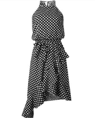 Goodnight Macaroon 'Jeslyn' Polka Dot Halter Neck Ruffled Dress (3 Colors)