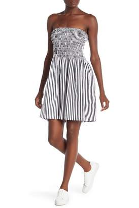 ATM Anthony Thomas Melillo Ruched Cotton Poplin Dress