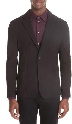 Emporio Armani Trim Fit Check Cotton Sport Coat