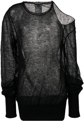 Ann Demeulemeester fine-knit top