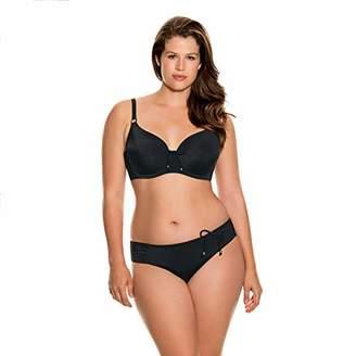 Dorina Women's Fiji Bikini Brief D17023A Bottoms, (Black), 8 (Size:8)