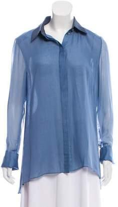J. Mendel Silk Button-Up Top