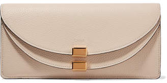 Chloé Georgia Textured-leather Continental Wallet - Ecru