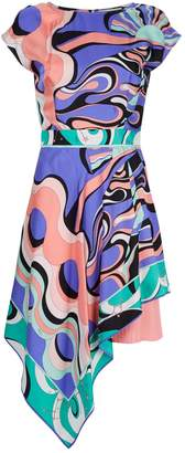 Emilio Pucci Silk Asymmetric Midi Dress