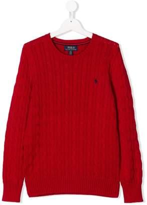 Ralph Lauren Kids TEEN cable knit jumper