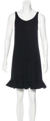 Balenciaga Ruffle-Trimmed Shift Dress