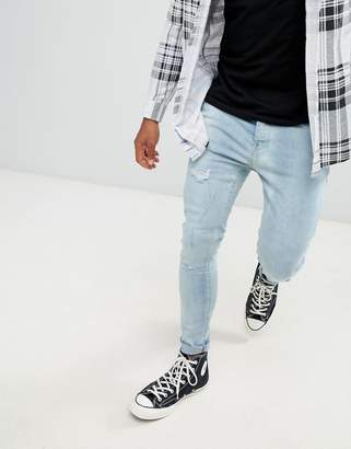 Brave Soul Skinny Fit Distressed Jeans