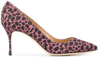 Sergio Rossi leopard print heeled pumps