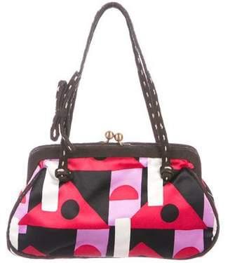 Prada Printed Silk Handle Bag