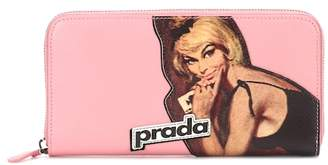 Prada Printed leather wallet